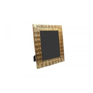 Porta Retrato em Metal Dourado Trabalhado 29,50X34,50 cm