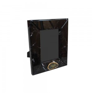 Porta Retrato Laca com Vidro Black Blk 2,5x24X29CM
