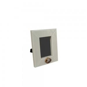 Porta Retrato Laca com Vidro Marfim 2,5X21,5X26CM