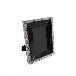 Porta Retrato Borda Dupla Black/White 4x17x22CM