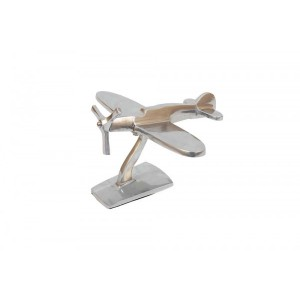 Peso de Papel Avião Aluminio 13X20X22CM