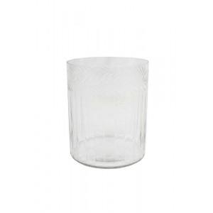 Vaso/Cachepot em Vidro Trabalhado 15X12,5 cm