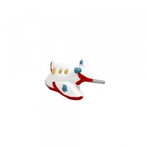 Puxador Decorativo Infantil Réplica Avião Colorido 2x4x7 cm