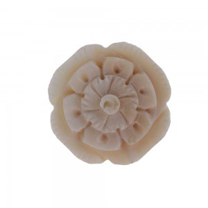 Puxador Osso Flor 3,5x3,5x2,5cm