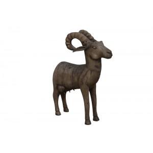 Estatua Animal Ovis de Madeira Grande 14X40X51CM