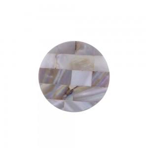 Puxador Madrepérola Retangular c/ Madeira 3X3X3CM