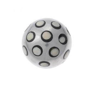 Bola Decorativa em Metal com Osso e Resina Média D11 cm