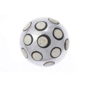 Bola Decorativa em Metal com Osso e Resina Grande D13 cm