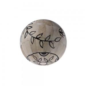 Bola Decorativa de Osso Pintada - G 13cm