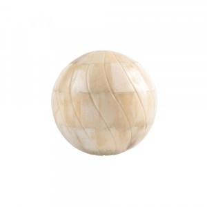 Bola Decorativa em Osso Esculpido D10 cm