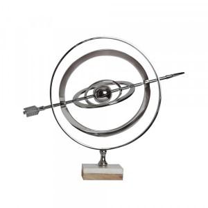 Globo Terrestre Decorativo em Metal A37x43,5 cm