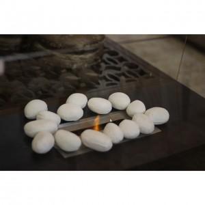 Pedra Cerâmica Branca 24pcs 7X23X32CM