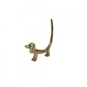 Objeto Decorativo Dog Dourado 4X17X22CM