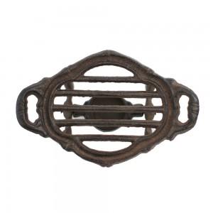 Aquecedor p/ Tigela Rechaud em Ferro c/ Suporte p/ Vela 20x13x7 cm