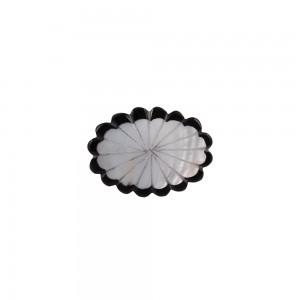 Puxador Osso Preto e Branco com Madrepérola 4,5X3X2 cm