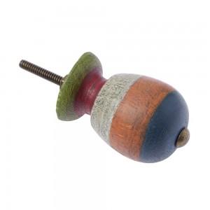 Puxador Madeira Rustico Colorido 4X4X8CM