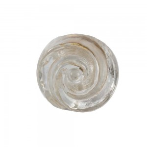 Puxador em Vidro Transparente Formato Botão de Rosa 5X5X4 cm