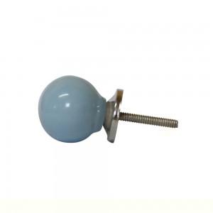 Puxador Liso Azul em Cerâmica 3x3x4 cm