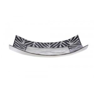 Bandeja Madrepérola Estampa Zebra - 5X25X25CM