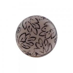 Puxador Porta Ceramica Acrilico Desenhado 4X4x8CM