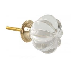 Puxador Vidro Estilo Coroa D4 cm