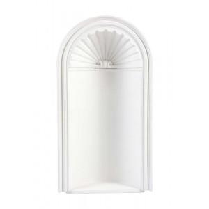 Moldura Decorativa de Poliuretano Branca para Parede 62x24x113 cm