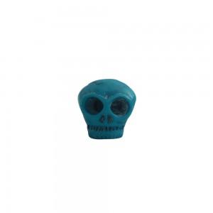 Puxador Resina Caveira Azul 3x3x4 cm